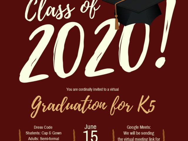 K5 Virtual Graduation 2020