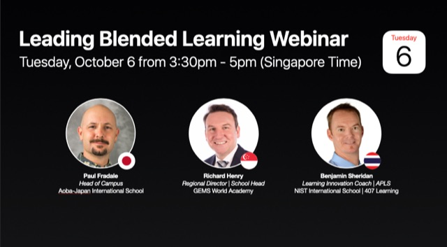 Our Head of Campus presented at an Apple Webinar
